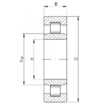 ISO NU5210 cylindrical roller bearings