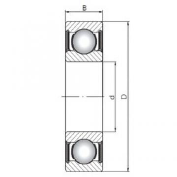 ISO 61822-2RS deep groove ball bearings