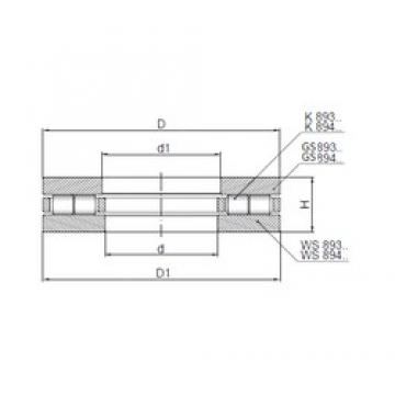 ISO 89307 thrust roller bearings
