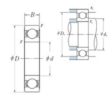NSK 6012 deep groove ball bearings