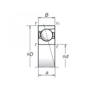 NSK 726A angular contact ball bearings
